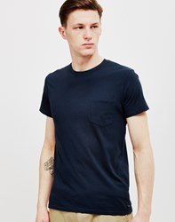 Edwin Pocket T Shirt Navy