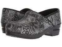 Sanita Professional Moonflower Black Clog Shoes