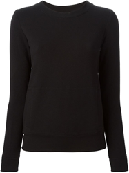 Norma Kamali Kangaroo Pocket Sweatshirt Black