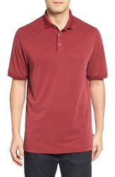 Tommy Bahama Men's 'Little Zig Zag' Short Sleeve Polo Sangria Red