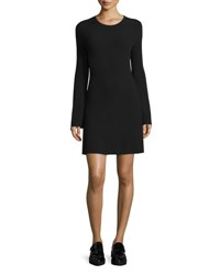 Theory Ardesia Prosecco Directional Rib Sweater Dress Black