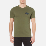 Kenzo Men's Small Logo T Shirt Dark Khaki Green