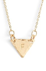 Women's Nashelle 14K Gold Fill Initial Triangle Necklace 14K Gold Fill F