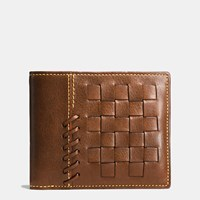 Coach Rip And Repair 3 In 1 Wallet In Glovetanned Leather Dark Saddle
