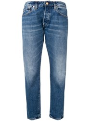Golden Goose Deluxe Brand Cropped Tapered Jeans Blue