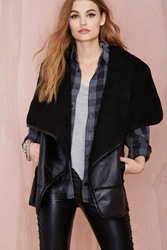 Nasty Gal Ride Away Sherpa Vest