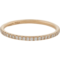 Ileana Makri Pave Diamond And Pink Gold Thread Band