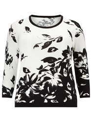 Windsmoor Floral Jumper White Black