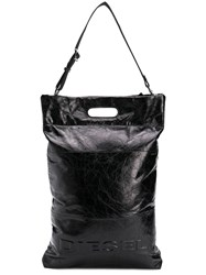 Diesel Logo Shopper Tote Black