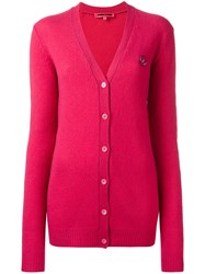 Mcq By Alexander Mcqueen Swallow Cardigan Pink Purple