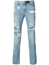 Rta Ripped Slim Fit Jeans Cotton Blue