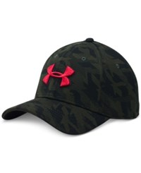 Under Armour Men's Printed Heatgear Logo Hat Green Camo