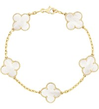 Van Cleef And Arpels Vintage Alhambra Gold Mother Of Pearl Bracelet Yellow Gold