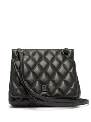 Balenciaga B Logo Quilted Leather Bag Black