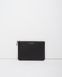 Comme Des Garcons Luxury Large Zip Pouch Black