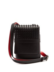 Christian Louboutin Benech Reporter Leather Messenger Bag Black