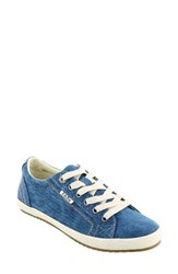 Taos Women's 'Star' Sneaker Turquoise Washed Canvas