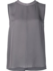 Vince Relaxed Fit Tank Top Grey