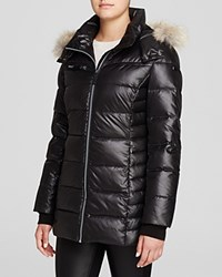 Marc New York Paris Fur Trim Puffer Coat Black