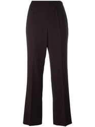 Chanel Vintage Cropped Tailored Trousers Brown