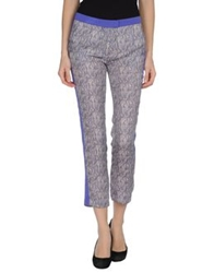 Space Style Concept Casual Pants Purple