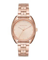 Michael Michael Kors 38Mm Libby Crystal Bracelet Watch Rose Gold