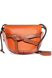 Loewe Gate Small Leather Shoulder Bag Orange