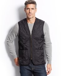 Barbour Polarquilt Waistcoat Zip In Liner Black