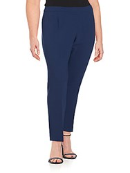 Lafayette 148 New York Solid Ankle Length Pants Delft