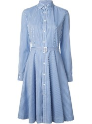 Polo Ralph Lauren Striped Shirt Dress Blue