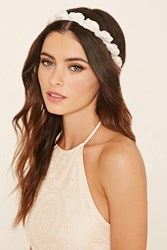 Forever 21 Floral Faux Pearl Headwrap