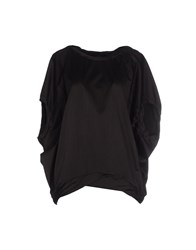 European Culture Shirts Blouses Women Black