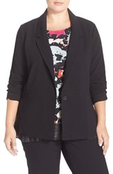 Plus Size Women's Sejour One Button Long Blazer