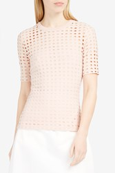 Alexander Wang T By Women S Circle Cut Out T Shirt Boutique1 Pink
