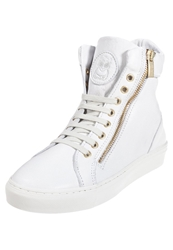 Boom Bap Celebration Hightop Trainers White Gold