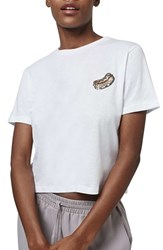 Women's Topshop By Tea And Cake 'Sequin Hot Dog' Tee