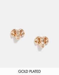 And Mary Gold Plate Ram Stud Earrings Goldplate