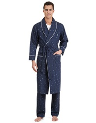 Nautica J Class Woven Shawl Collar Robe Navy