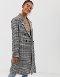 Miss Selfridge Tailored Coat In Check Multi