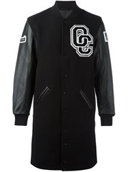 Opening Ceremony Embroidered Logo Coat Black