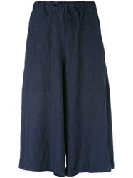 Klasica Tie Fastened Trousers Linen Flax Viscose Blue