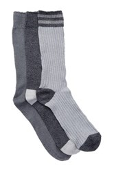 Lucky Brand Chunky Crew Cut Socks Pack Of 3 Blue