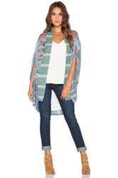 Camilla Open Front Cardigan Blue
