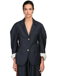 Lanvin Mohair And Wool Jacket Navy