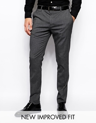 Asos Skinny Fit Suit Trousers In Charcoal