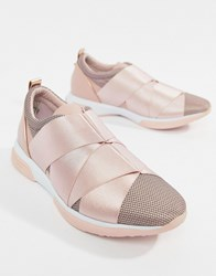 da7f6f901 Ted Baker Strap Detail Light Pink Sporty Trainers Light Pink