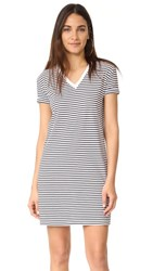 Alexander Wang T By V Neck Dress White With Navy Stripes