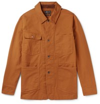 Beams Plus Duck Canvas Field Jacket Brown