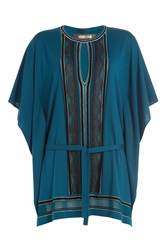 Roberto Cavalli Tunic With Lace Blue