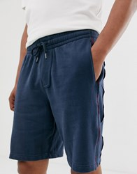 Abercrombie And Fitch Logo Side Taping Sweat Shorts In Navy